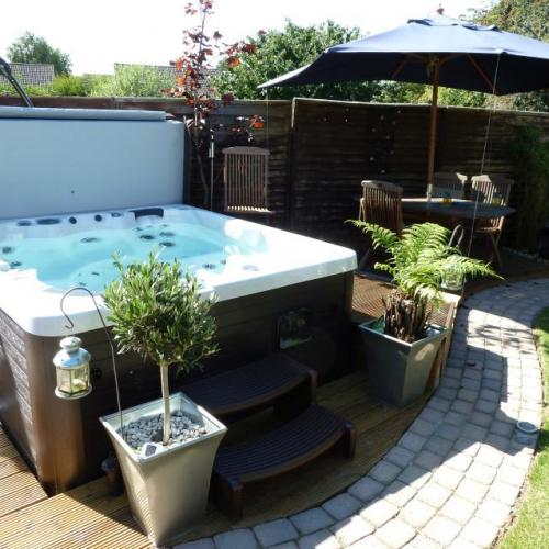 Hot tub with decking
