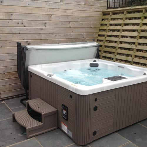 Steps with hot tub