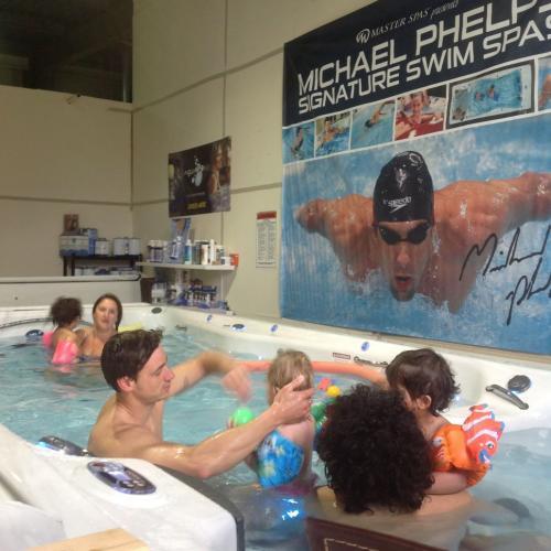 Fun in a swim spa